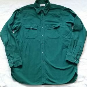 Vintage L.L.Bean Mens L Green Flannel Button Shirt
